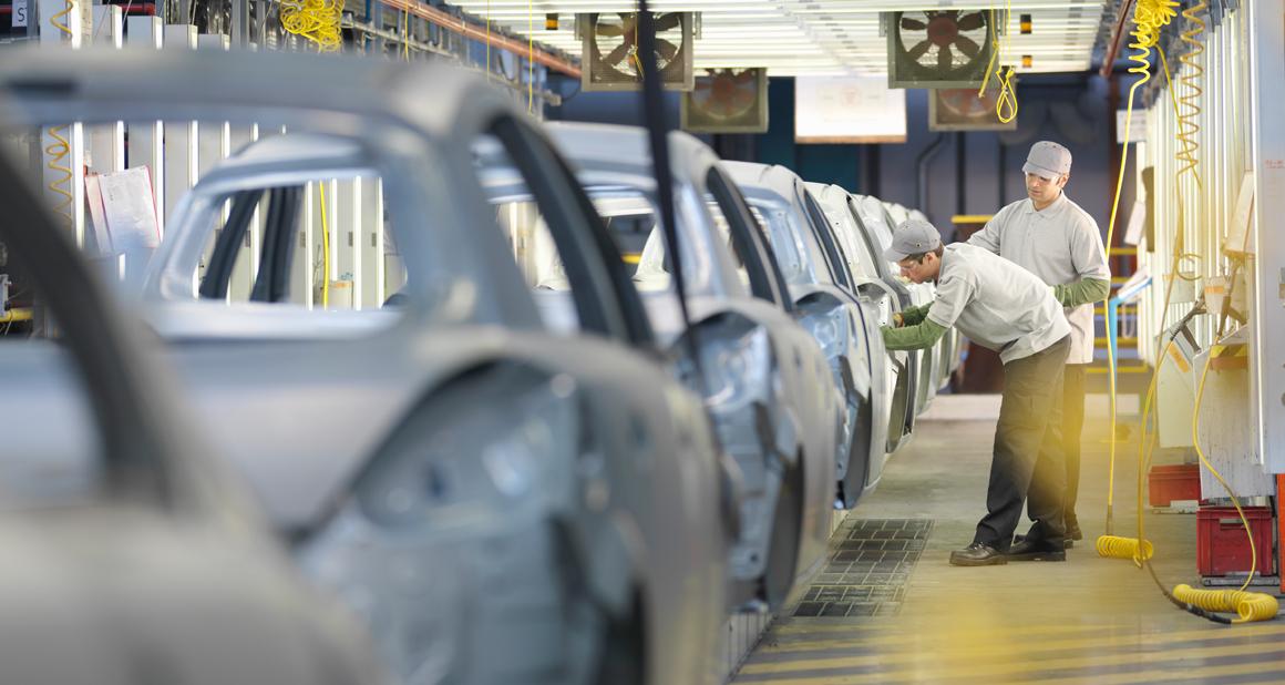 In a car factory